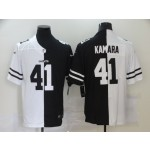 Nike New Orleans Saints #41 Alvin Kamara Black And White Split Vapor Untouchable Limited Jersey