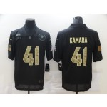 Nike New Orleans Saints #41 Alvin Kamara Black Camo 2020 Salute To Service Limited Jersey