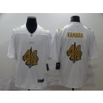 Nike New Orleans Saints #41 Alvin Kamara White Shadow Logo Limited Jersey