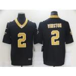New Orleans Saints #2 Jameis Winston Black Vapor Limited Jersey