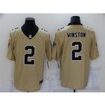 New Orleans Saints #2 Jameis Winston Gold Inverted Limited Jersey