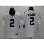 New Orleans Saints #2 Jameis Winston White Vapor Limited Jersey