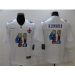New Orleans Saints #41 Alvin Kamara White Rainbow Vapor Limited Jersey