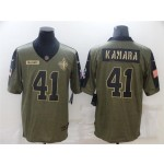 New Orleans Saints #41 Alvin Kamara 2021 Olive Salute To Service Limited Jersey