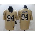 New Orleans Saints #94 Cameron Jordan Gold Inverted Limited Jersey