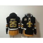 NFL New Orleans Saints #25 Eli Apple Black All Stitched Hooded Sweatshirt