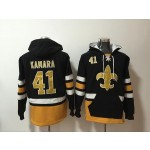 NFL New Orleans Saints #41 Alvin Kamara Black All Stitched Hooded Sweatshirt