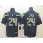 NFL Seattle Seahawks #24  Marshawn Lynch Navy Vapor Untouchable Limited Jersey