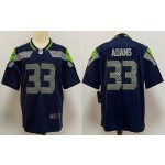 NFL Seattle Seahawks #33 Jamal Adams navy blue Vapor Untouchable Limited Jersey