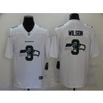 Nike Seattle Seahawks #3 Russell Wilson White Shadow Logo Limited Jersey