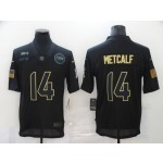 Nike Seattle Seahawks #14 D.K. Metcalf Black 2020 Salute To Service Limited Jersey