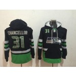 NFL Seattle Seahawks #31 Kam Chancellor Navy Blue All Stitched Hooded Sweatshirt