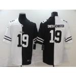 Nike Steelers #19 Smith-Schuster Men's Black V White Peace Split Nike Vapor Untouchable Limited Jersey