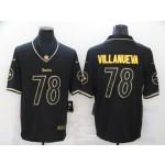 Nike Steelers #78 Alejandro Villanueva Black Gold Vapor Untouchable Limited Fashion Jersey