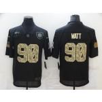 Nike Steelers #90 T.J. Watt Black Camo 2020 Salute To Service Limited Jersey