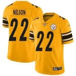Men Steelers #22 Steven Nelson Gold Football Limited Inverted Legend Jersey