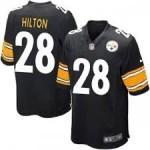 Nike Steelers #28 T.Y. Hilton Black Vapor Untouchable Player Limited Jersey