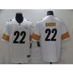 Men's Steelers #22 Najee Harris White 2021 NFL Draft Vapor Limited Jersey