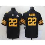 Nike Steelers #22 Najee Harris Black 2021 NFL Draft Color Rush Limited Jersey