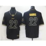 Pittsburgh Steelers #22 Najee Harris Black Gold Vapor Limited Jersey