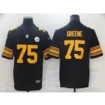 Pittsburgh Steelers #75 Joe Greene Black Color Rush Limited Jersey