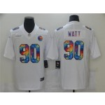 Pittsburgh Steelers #90 T.J. Watt White Rainbow Vapor Limited Jersey