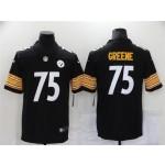 Pittsburgh Steelers #75 Joe Greene Black Vapor Limited Jersey