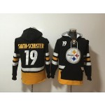 NFL Pittsburgh Steelers #19 Smith-Schuster black All Stitched Hooded Sweatshirt