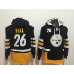 NFL Pittsburgh Steelers #26 LeVon Bell black All Stitched Hooded Sweatshirt