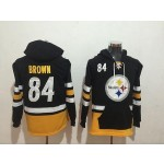 NFL Pittsburgh Steelers #84 Antonio Brow black All Stitched Hooded Sweatshirt