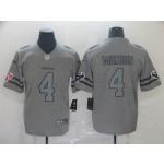 NFL Houston Texans #4 Deshaun Watson 2019 Gray Gridiron Gray Vapor Untouchable Limited Jersey