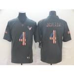 NFL Houston Texans #4 Deshaun Watson Grey Salute To Service USA Flag Fashion Limited Jersey