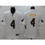 NFL Houston Texans #4 Deshaun Watson White Gold Vapor Untouchable Limited Jersey