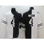 NFL Houston Texans #4 Deshaun Watson Men's Black V White Peace Split Nike Vapor Untouchable Limited Jersey