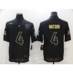 Nike Houston Texans #4 Deshaun Watson Black 2020 Salute To Service Limited Jersey