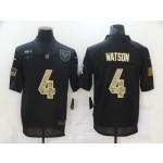 Nike Houston Texans #4 Deshaun Watson Black Camo 2020 Salute To Service Limited Jersey