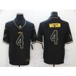 Nike Houston Texans #4 Deshaun Watson Black Gold Vapor Untouchable Limited Jersey