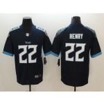 NFL Titans #22 Derrick Henry Navy Men's Stitched Vapor Untouchable Limited Jersey
