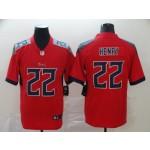 NFL Titans #22 Derrick Henry Red Men's Stitched NFL Limited Inverted Legend Jersey
