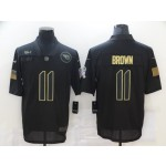 NFL Titans #11 A.J. Brown Black 2020 Salute To Service Limited Jersey