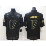 Nike Titans #17 Ryan Tannehill Black 2020 Salute To Service Limited Jersey