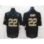 Nike Titans #22 Derrick Henry Black Camo 2020 Salute To Service Limited Jersey