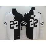 Nike Titans #22 Derrick Henry Men's Black V White Peace Split Nike Vapor Untouchable Limited Jersey