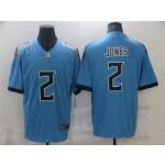Tennessee Titans #2 Julio Jones Light Blue Vapor Limited Jersey