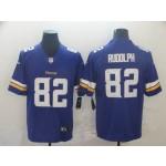 NFL Vikings #82 Kyle Rudolph Purple Vapor Untouchable Limited Jersey