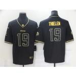 Minnesota Vikings #19 Adam Thielen Black Gold Vapor Limited Jersey