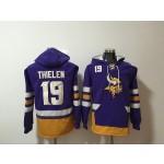 NFL Minnesota Vikings #19 Adam Thielen Purple All Stitched Hooded Sweatshirt