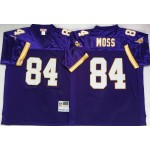 NFL Vikings #84 Randy Moss Purple Throwback Jersey