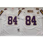 NFL Vikings #84 Randy Moss White M&N Throwback Jersey