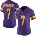 Women's Nike Vikings #7 Patrick Peterson Purple Stitched NFL Limited Rush Jersey